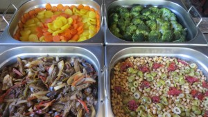 Diversos tipos de saladas