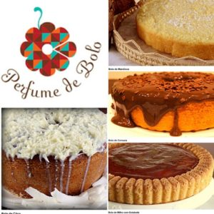Diversas opções de bolos e tortas