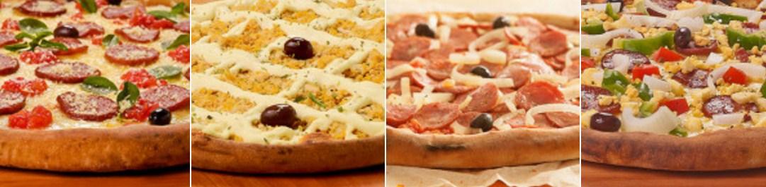 Diversos sabores de pizzas