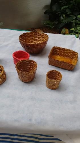 Cestas e cachepot feitos com papel