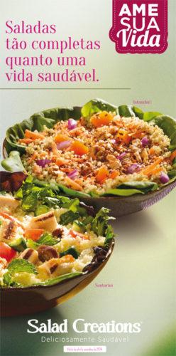 Diversas opções de saladas