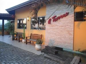 Área externa do Restaurante A Taverna