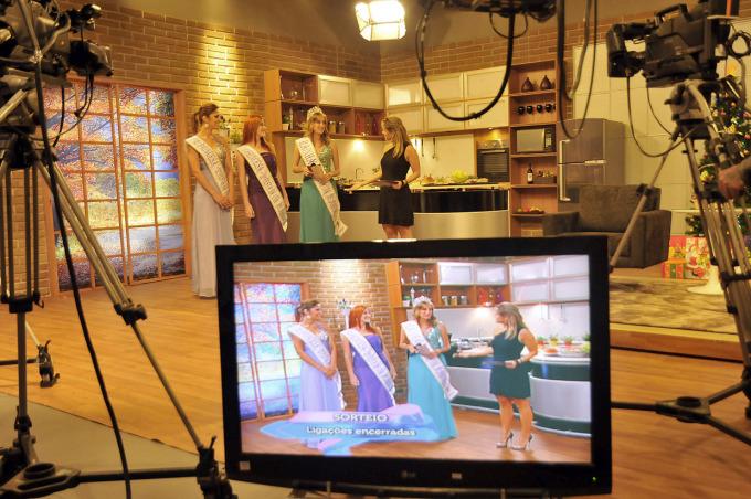 A Corte da Uva durante gravação na TVE