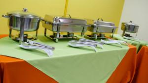 Buffet de pratos quentes