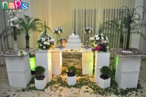Mesa decorada - Espaço Rosamel