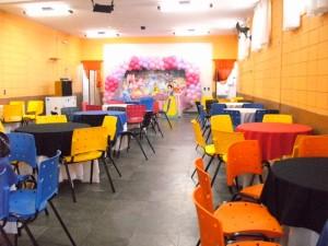 Salão decorado - Buffet Tempo De Festa