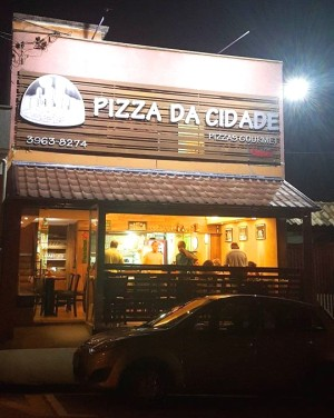 Entrada da pizzaria