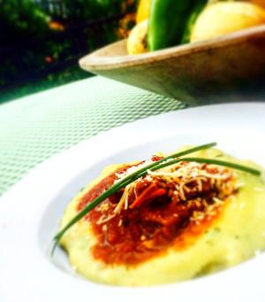 Ragu de carne e polenta mole