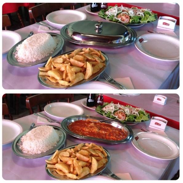 Pratos servidos no Restaurante A Boa Picanha