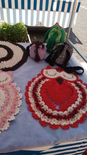 Peças decorativas feitas em crochê