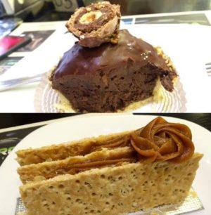Tortas Ferrero Rocher e Mil Folhas Doce de Leite