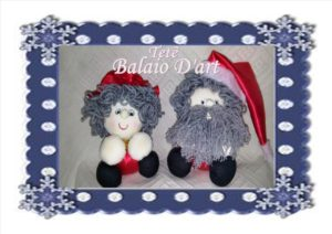 Casal de bonecos natalinos
